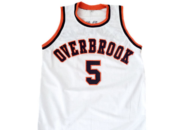 Wilt Chamberlain #5 Overbrook High School Basketball Jersey White Any Size
