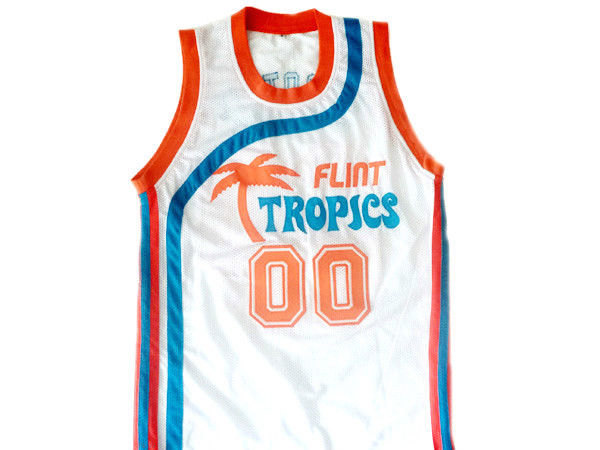 Scootsie Doubleday #00 Flint Tropics Semi Pro Basketball Jersey White Any Size