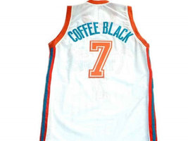 Coffee Black #7 Flint Tropics Semi Pro Movie Basketball Jersey White Any Size image 2