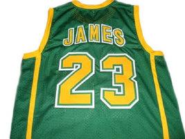 Lebron James #23 Irish High School Basketball Jersey Green Any Size image 2