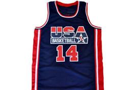 Charles Barkley #14 Team USA Basketball Jersey Navy Blue Any Size image 1