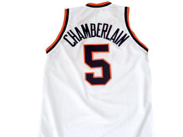 Wilt Chamberlain #5 Overbrook High School Basketball Jersey White Any Size image 2