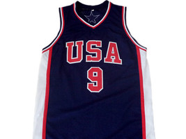 Vince Carter #9 Team USA BasketBall Jersey Navy Blue Any Size image 1