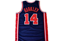 Charles Barkley #14 Team USA Basketball Jersey Navy Blue Any Size image 2