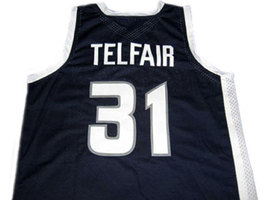 Sebastian Telfair #31 Lincoln High School Basketball Jersey Navy Blue Any Size image 2