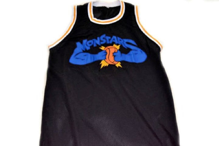 Monstars #0 Tune Squad Space Jam Movie Basketball Jersey Black Any Size