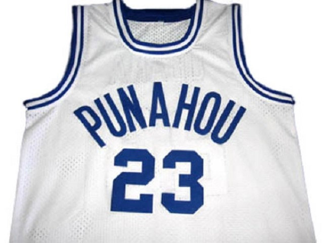 Barack Obama #23 Punahou High School Basketball Jersey White Any Size