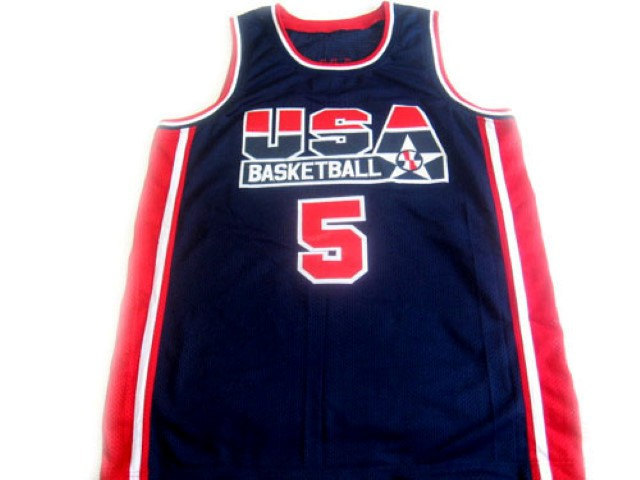 David Robinson #5 Team USA Basketball Jersey Navy Blue Any Size