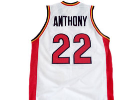 Carmelo Anthony #22 Oak Hill High School Basketball Jersey White Any Size image 2