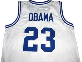 Barack Obama #23 Punahou High School Basketball Jersey White Any Size image 2