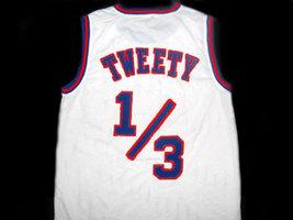 Tweety Bird #1/3 Tune Squad Space Jam Movie Basketball Jersey White Any Size image 4