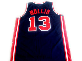 Chris Mullin #13 Team USA BasketBall Jersey Navy Blue Any Size image 2