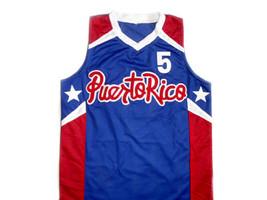 Jose JJ Barea #5 Puerto Rico Basketball Jersey Blue Any Size image 1
