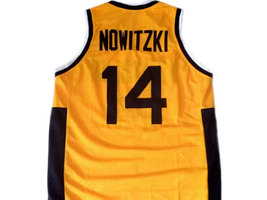Dirk Nowitzki #14 Team Deutschland Germany Basketball Jersey Yellow Any Size image 2
