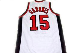Arvydas Sabonis #15 CCCP Team Russia Basketball Jersey White Any Size image 2