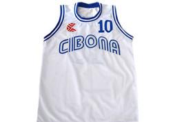 Drazen Petrovic #10 Cibona Croatia Basketball Jersey White Any Size image 1