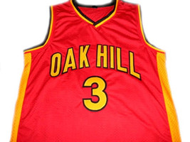 Brandon Jennings #3 Oak Hill High School Basketball Jersey Red Any Size image 1