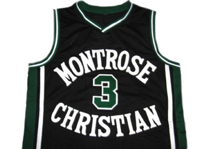 Kevin Durant #3 Montrose High School Basketball Jersey Black Any Size
