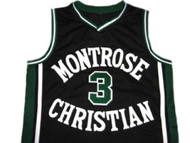 Kevin Durant #3 Montrose High School Basketball Jersey Black Any Size image 1