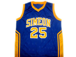 Ben Wilson #25 Simeon High School Basketball Jersey Blue Any Size image 1