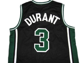 Kevin Durant #3 Montrose High School Basketball Jersey Black Any Size image 2