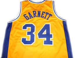 Kevin Garnett #34 Admirals High School Basketball Jersey Yellow Any Size image 2