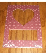 Heart rose pindot double mat opening 5x7 framin... - $1.25