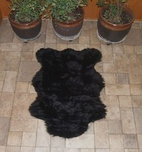 "6' 8"" x 4' 6"" Faux Fur Black  Bear Rug, Fake Bear Rug, Fake Bearskin - $58.41"