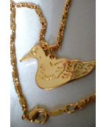 Duck Dynasty Gold Layered Animal Bird Pendant 16 Inch Chain Lifetime Gua... - $25.50