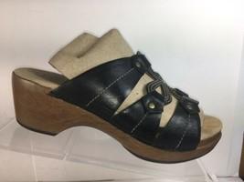 Dansko Womens Slip On Sandals Sz-8.5 M Serena Brown Leather Comfort Slid... - $45.00