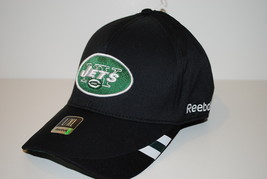 NY New York Jets Reebok Onfield A-Flex Black NFL Football Cap Hat S/M - $22.75