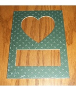 Heart green pindot double mat opening 5x7 frami... - $1.25
