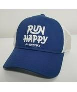 Brooks Run Happy Snapback Trucker Running Hat Fitness Workout NWOT Cap A... - $17.99