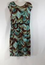 Womens Multi Colored Dress Sz 12 Ann Taylor Loft Career Casual NWT Elast... - $35.04