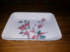 "Mikasa Ultra Ceram Bake & Serve UP009 SILK FLOWERS 12 5/8"" Rectangular Baker  - $15.83"