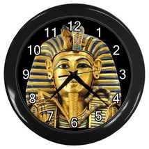 King Tut Egyptian Pharaoh Tutankhamun Decorative Wall Clock (Black) 3572... - $18.18