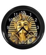 King Tut Egyptian Pharaoh Tutankhamun Decorative Wall Clock (Black) 3572... - $18.18