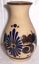 Tonala Mexican Ornate Bird Art Pottery Vase By J. Mora - $80.49
