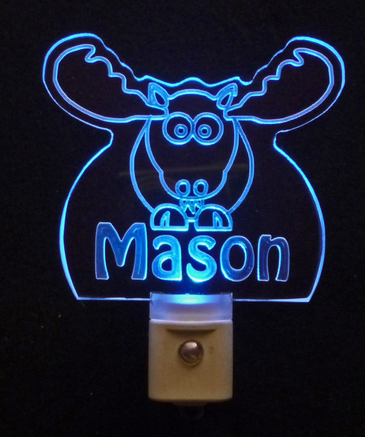 Personalized Moose Elk LED Night Light with Name - $24.00