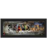 "Personalized ""Fisherman Themed"" Panoramic 8"" H x 20"" W Framed Letter Art Print - $39.59"