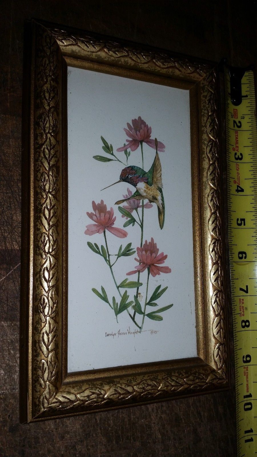 Carolyn Shores Wright Floral Hummingbird Print - Framed
