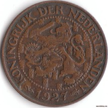 A Very Fine 1927 Netherlands One Cent Coin,  Ni... - $12.80