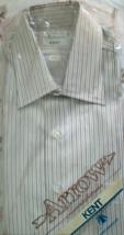 Men's Dress Shirt Long Sleeve Dress Shirt By Arrow  (Kent- size 16 Sleve... - $11.95