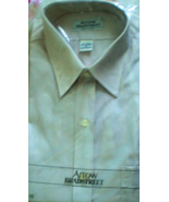 Men's Dress Shirt - Short Sleve  By Arrow - Size 16, Color Light Brown - $14.00