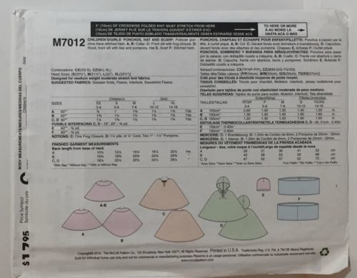 McCall's M7012 CZ M-XL Sewing Pattern Uncut and similar items