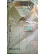 Men's Short Sleeve Dress Shirt By  Madison Avenue -Size 16 Color Whitee - $11.75
