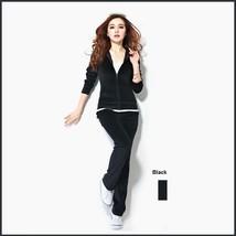 Soft Velour Velvet Jogging Bright Track Sweat Suit Lounger Hoodie & Pants Sets  image 7