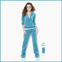 Soft Velour Velvet Jogging Bright Track Sweat Suit Lounger Hoodie & Pants Sets  image 11