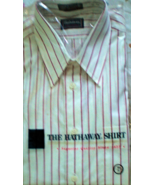 Men's Dress Shirt Long Sleeve Dress Shirt By Hathaway  (size 16 Sleve 34) - $11.75