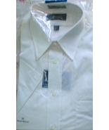 Men's Dress Shirt - Short Sleeve Dress Shirt By Arrow -Color White Size 16 - $11.75